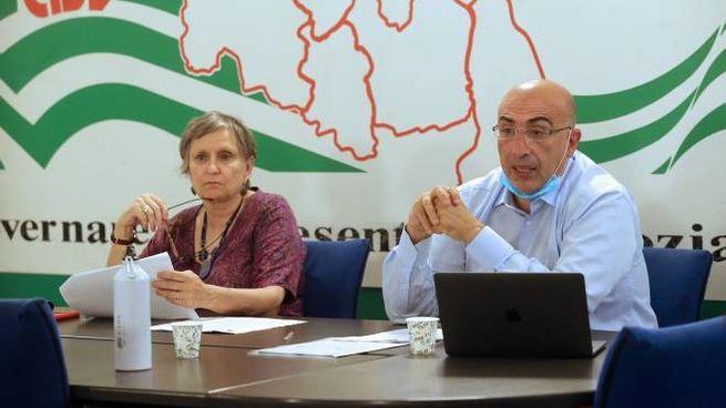 Rita Pavan ed Enzo Mesagna della Cisl Brianza