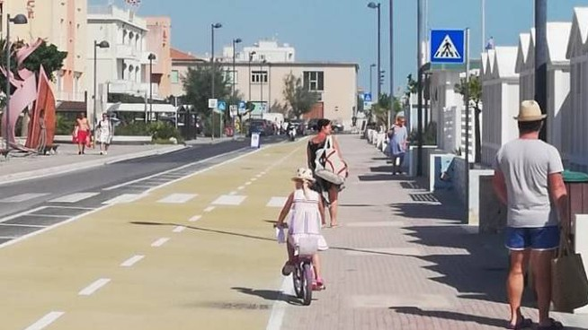 Il nuovo tratto di Ciclovia Adriatica a Marotta nord