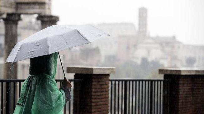 Brutto tempo a Roma (Foto: Ansa)