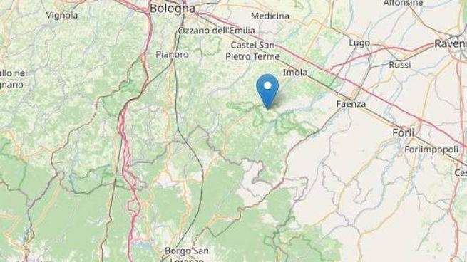 Terremoto nei pressi di Bologna, epicentro a Borgo Tossignano (OpenStreetMap contributors)