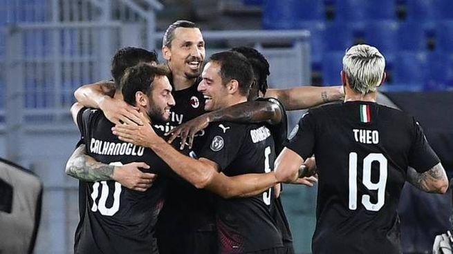 Il Milan vince all'Olimpico contro la Lazio (Ansa)