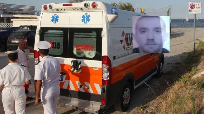 I soccorsi e nel riquadro la vittima: Andrei Claudiu Pop