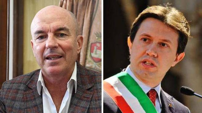 Luca Salvetti (a sinistra) e Dario Nardella