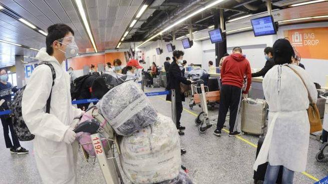 Controlli anti-Covid all'aeroporto
