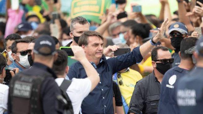 Il presidente brasiliano Jair Bolsonaro (Ansa)