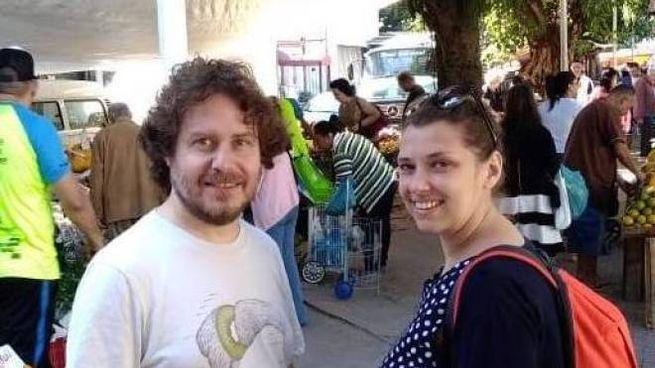 Mauro Pamiro e la moglie Debora Stella