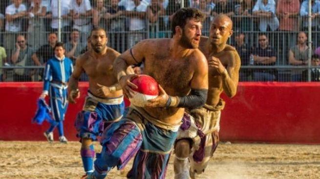 Una sfida del Calcio Storico Fiorentino