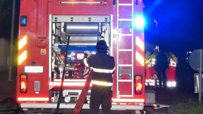 I Vigili del fuoco in azione per un temporale