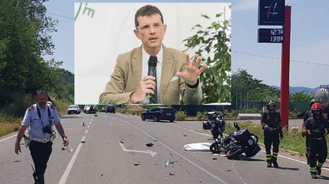 Andrea Novelli e il luogo dell'incidente