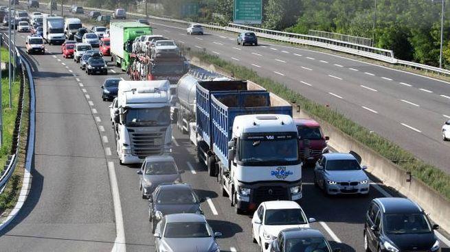 Incidente mortale in A1, disagi al traffico (foto d'archivio)