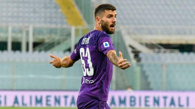 Fiorentina-Verona, Cutrone dopo il gol (foto Germogli)