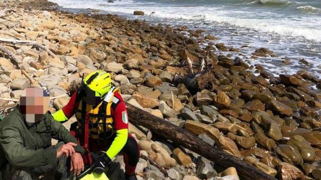L'80enne salvato dai soccorritori