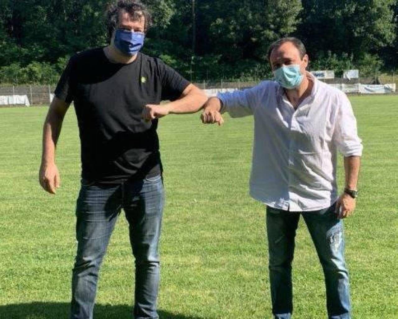 Lampo: il presidente Giannoni con il nuovo allenatore Sarti