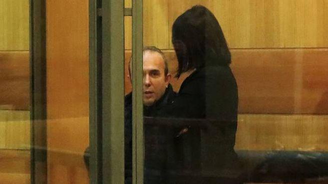 Michele Castaldo all'interno di un'aula del tribunale di Rimini (Foto Ansa)