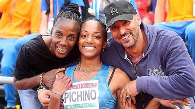 Fiona May, Larissa Iapichino e Gianni Iapichino (Ans)