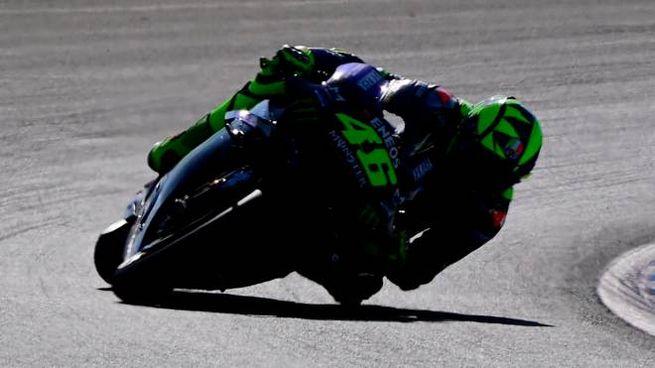 Valentino Rossi su Yamaha (Ansa)