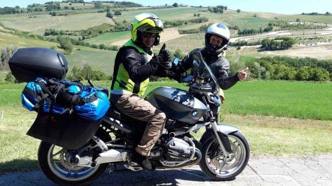 Tappa a Tavullia per due motociclisti veneti diretti in Puglia per le vacanze