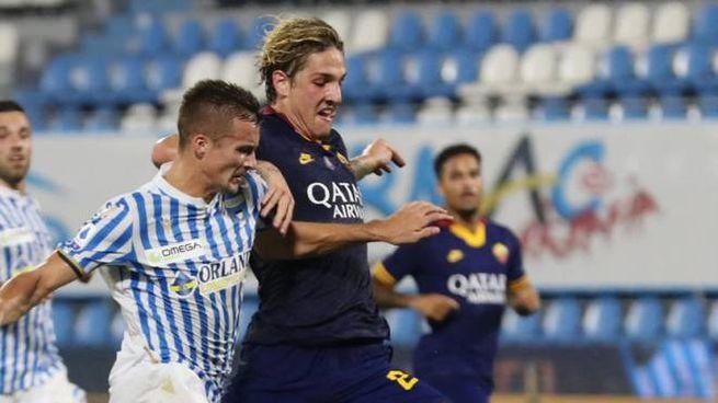 Spettacolare gol di Zaniolo (Ansa)