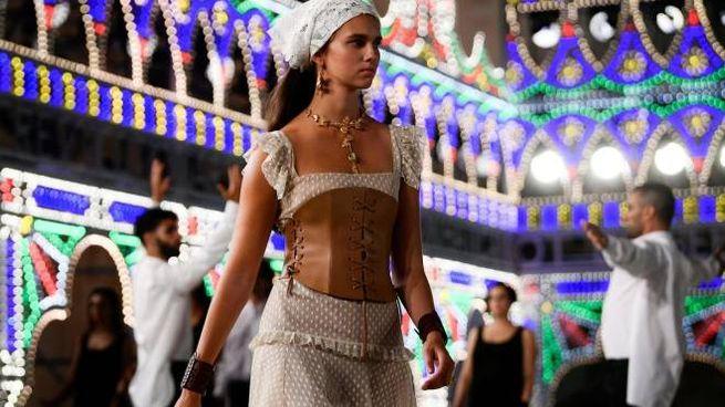La sfilata Dior Cruise 2021 a Lecce (Ansa)