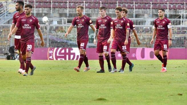 Livorno in campo (foto Novi)