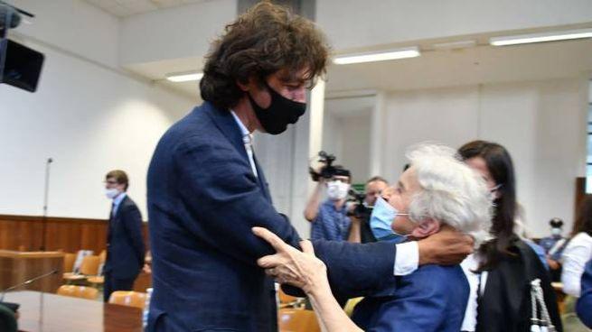 Cappato e Welby dopo la sentenza (Foto Nizza)
