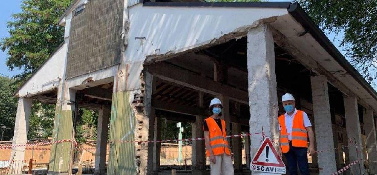 I lavori partiti al mercato Lagosta