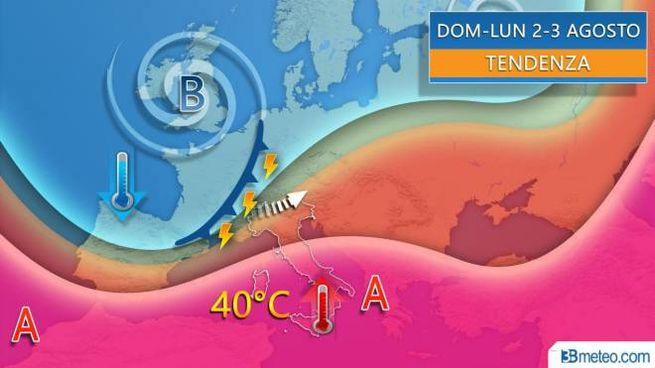 Previsioni meteo, temporali tra domenica e lunedì (3bmeteo)