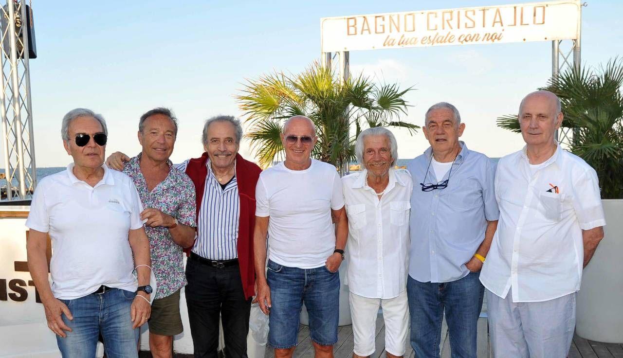 Arrigo Sacchi al Bagno Cristallo di Guelfo Tamburini a Lido delle Nazioni (foto BusinessPress)