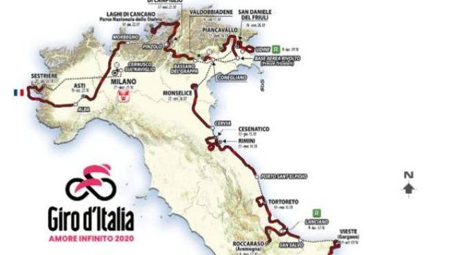 Giro d'Italia, la cartina