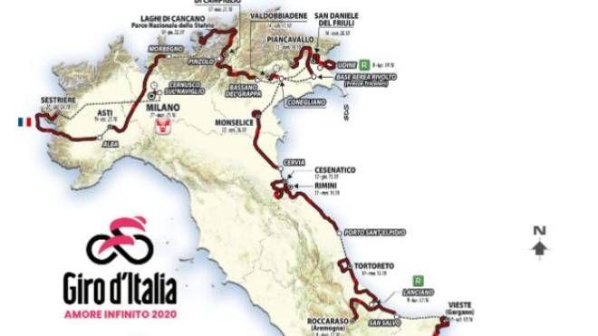Cartina Dellitalia Milano.Giro D Italia 2020 La Presentazione Tappe E Altimetria Sport Quotidiano Net
