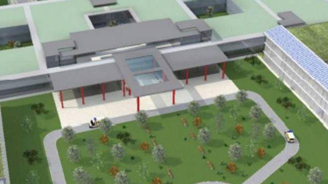 Il futuro ospedale nelle simulazioni fornite dall'Ausl Romagna