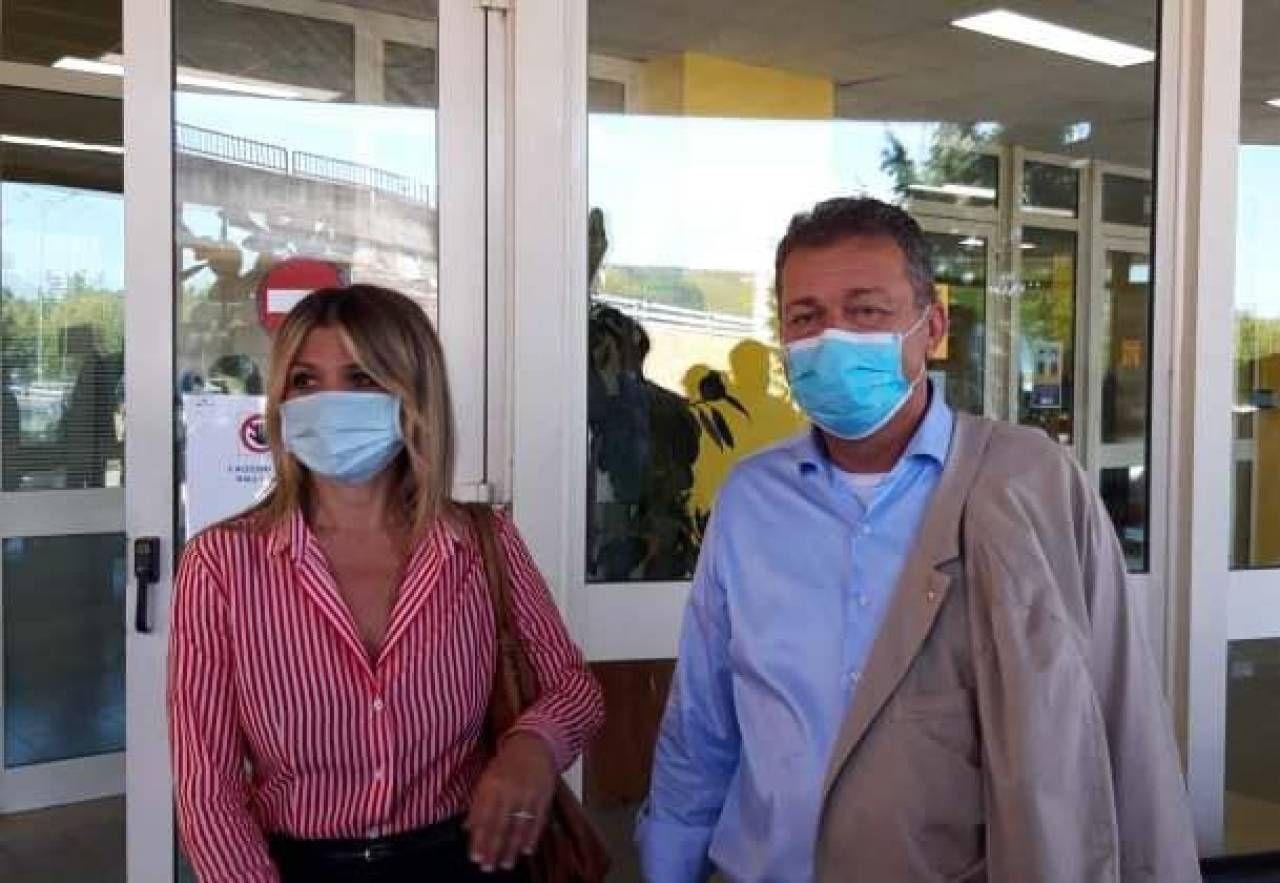 Il sindaco Roberta Tardani e l'assessore regionale Luca Coletto