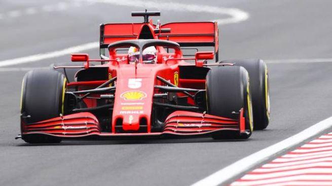 La Ferrari di Sebastian Vettel (Ansa)