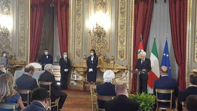 Il presidente Sergio Mattarella durante la cerimonia del Ventaglio (Dire)