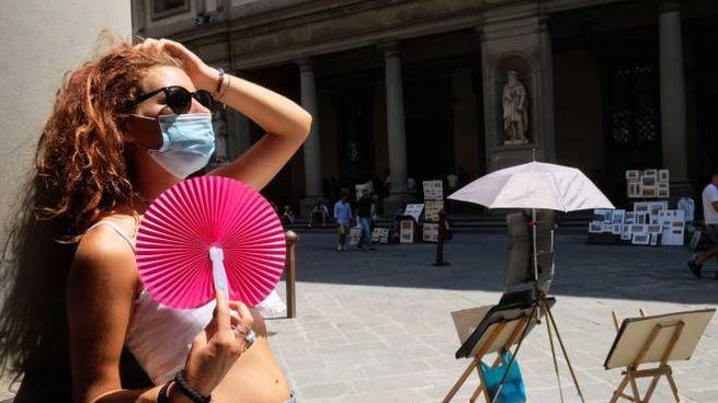 Allerta caldo a Firenze (New Press Photo)