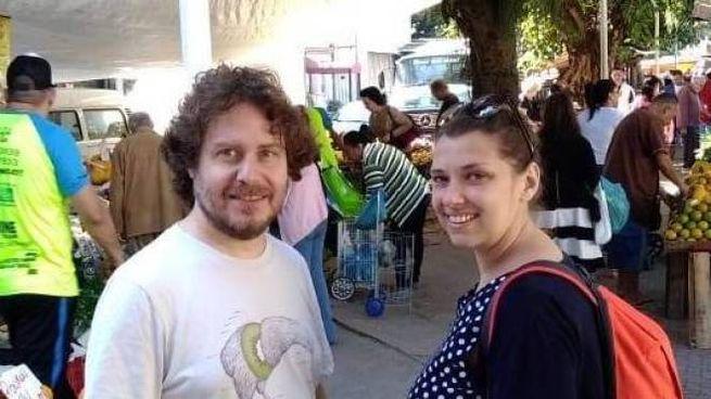 Mauro Pamiro con la moglie Debora