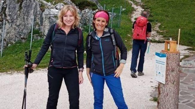 Valeria Lusztig, a sinistra con l'amica Ilaria con la quale tenterà l'impresa