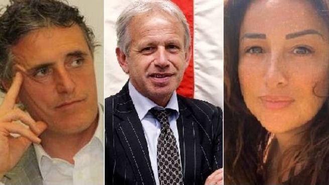 Da sin. Paolo Bambagioni, Marco Remaschi, Monica Patino Gomez