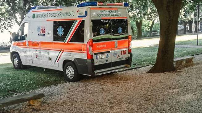 L'ambulanza al Girfalco (Foto Zeppilli)