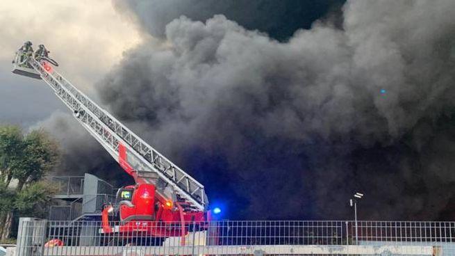 incendio azienda Costa di Mezzate
