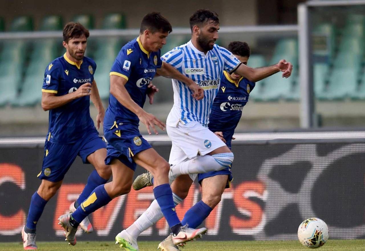 Mohamed Fares nell'ultima gara contro il Verona (foto BusinessPress)