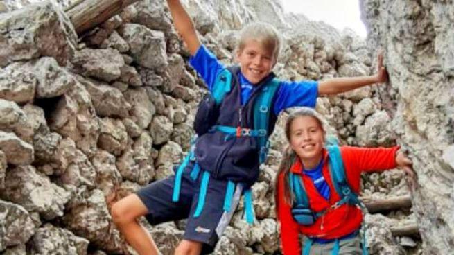 i due gemellini Diego ed Elena uccisi dal papà