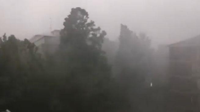 Maltempo ad Asti, un frame del video