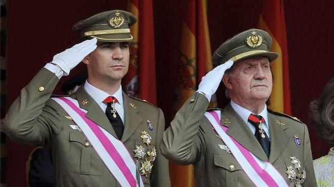 Felipe e Juan Carlos (Ansa)