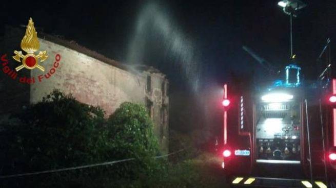 L'incendio a Boretto