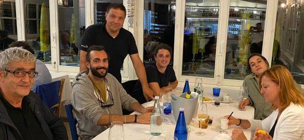 Marco Mengoni a Portonovo:  cena al Laghetto da Marcello