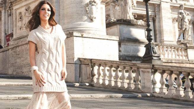 Lavinia Biagiotti Cigna sulla Scala Cordonata del Campidoglio