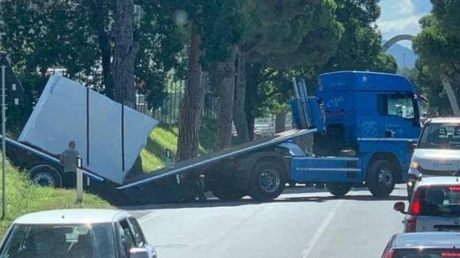 L'incidente (foto da Fb Figli dell'asfalto-Il gasolio nelle vene)