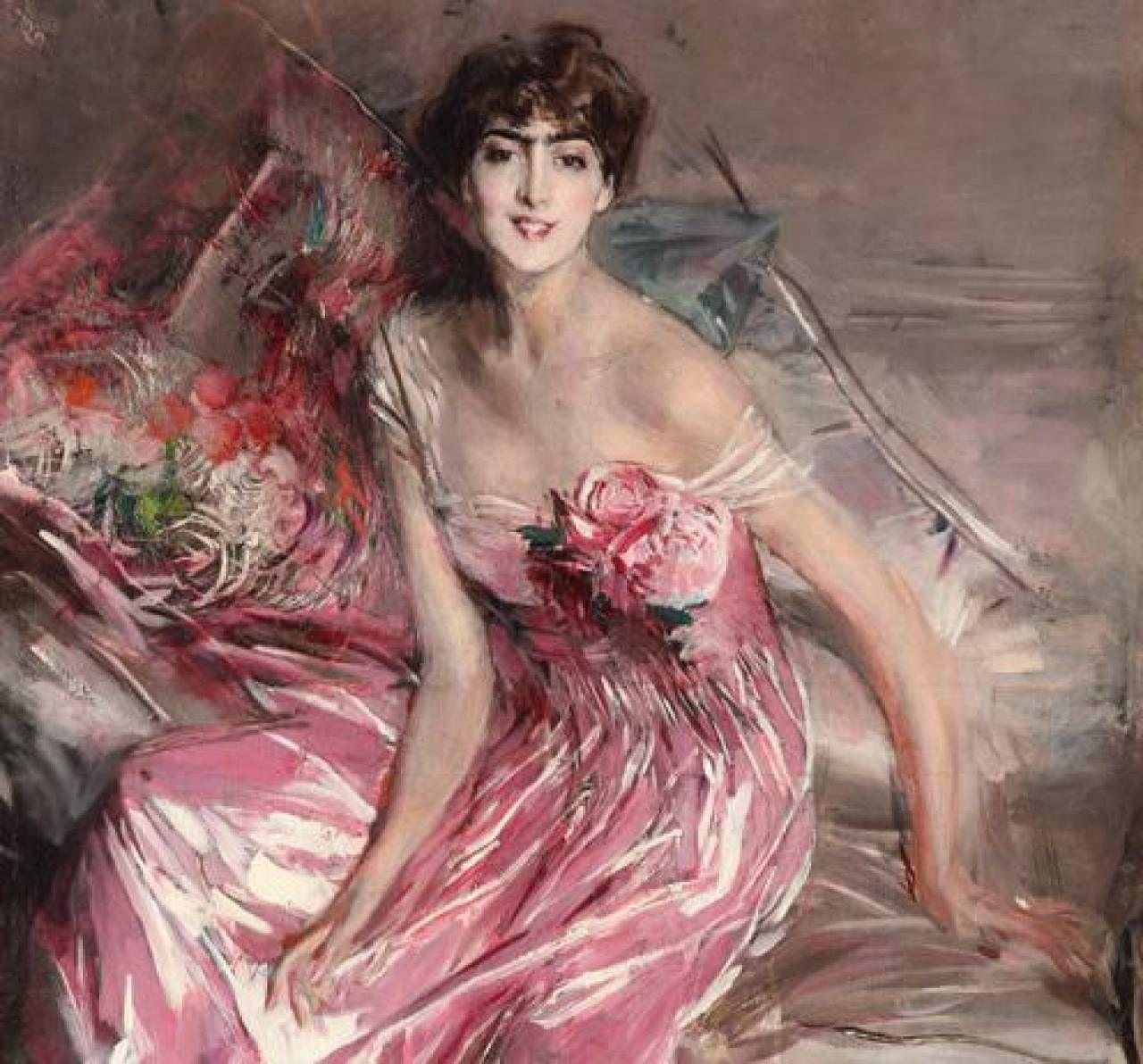 La signora in rosa (Ritratto di Olivia de Subercaseaux Concha), 1916