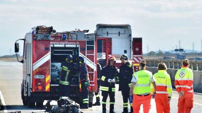 L'incidente mortale sulla Fipili (foto Novi)